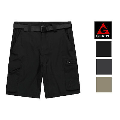 VARIETY SZ//CLRS MEN/'S GERRY BELTED VERTICAL WATER SHORTS CARGO POCKETS NEW