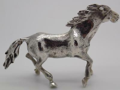 56g/1.98-oz. Vintage Solid Silver Italian Made Horse Figurine, Stamped