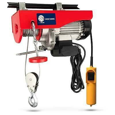 440 Lb Overhead Electric Hoist crane lift garage winch w/remote 110V FO-3780-2