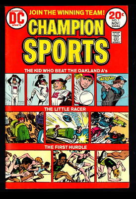 Champion Sports #1-3 Nm- Or Better (1973-74) Dc Bronze Age Comics!