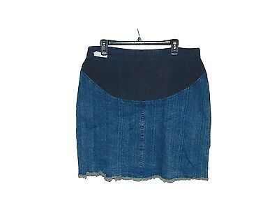 Pre Owned Maternity New Additions Denim Jean Skirt Size Medium