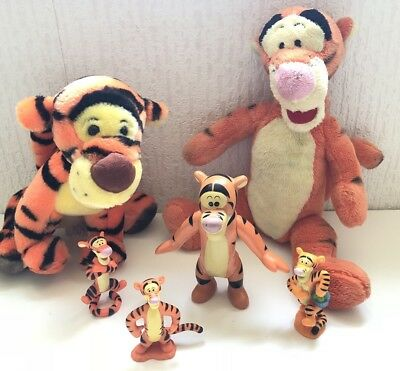 Disney Winnie The Pooh / Tigger Toy Lot Of 6 / 2 Soft Toys And 4 Figures