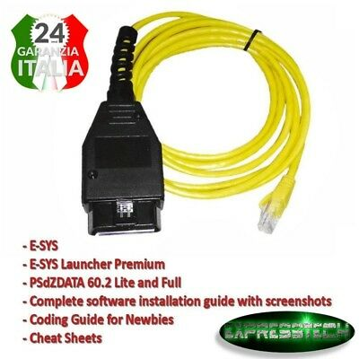 Interfaccia Ethernet a OBD Cavo E-SYS ICOM codifica F-Series per BMW ENET 2M