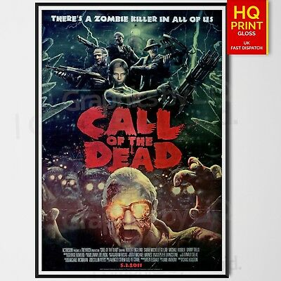 CALL OF DUTY BLACK OPS CALL OF THE DEAD  Zombies GAME Poster | A4 A3 A2 |