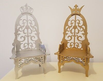 King and Queen Chairs Wedding Thrones Mr and Mrs Table Top