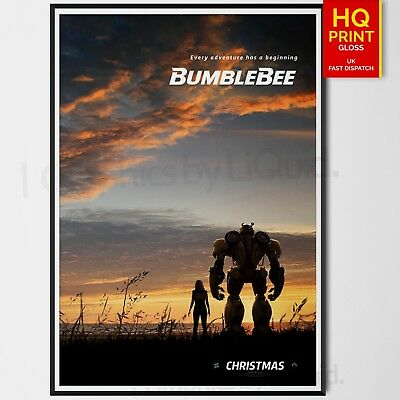 BumbleBee Transformers Movie Poster Travis Knight Movie 2018  | A4 A3 A2 A1 |