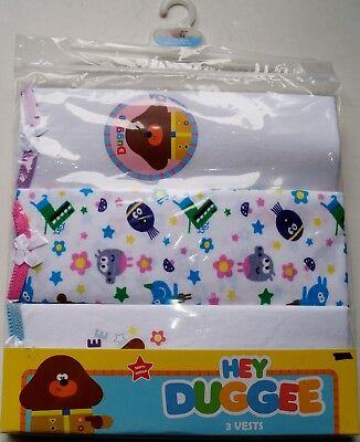 Girl's Ex Store 3 Vests Sets Hey Duggee £3.99 each