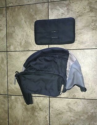 Rear BENCH SEAT PAD & CANOPY for Baby Trend Sit N Stand Double Stroller