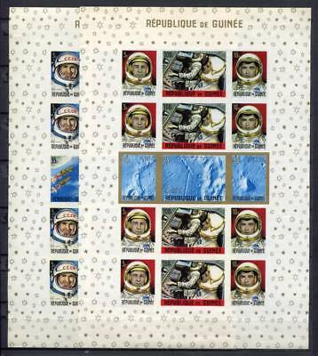 36314) GUINEA 1965 MNH** Nuovi** Space s/s x2 IMPERFORATED