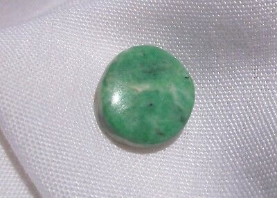 Jadeite Apple Green A Grade Feee Form Cabochon 12 Carat - 2.41 Grams Burmo