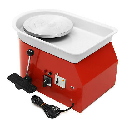 220V Electric Pottery Wheel 25Cm Pottery Forming Machine Diy Clay Ceramic