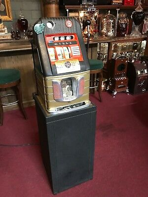 """1947 DOLLAR Coin Mills """"Leap Frog"""" Hi-Top Jackpot Slot Machine W Stand """"Video"""""""