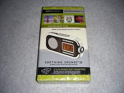 Soothing Sounds Clock with 12 Sleep Aid Sounds + 8 Wake Up Alarms (new) FreeShip