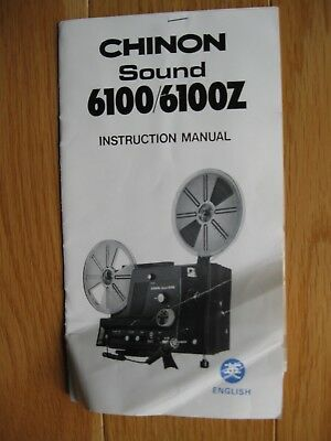 Instruction Manual for Chinon 6100 Movie Projector (1979)