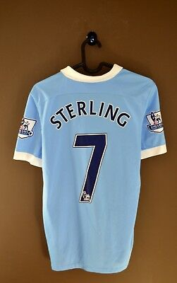 c7341f7bbd0 Manchester City Home Football Shirt 2015 2016  7 STERLING Youth XL Jersey  Nike