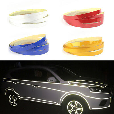 1PC 5m Car Reflective Rim Tape Wheel Sticker Trim Motorcycle Luminous Universal