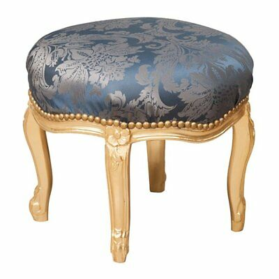 W47XDP47XH42 cm sized Louis XVI French style solid beech wood footstool