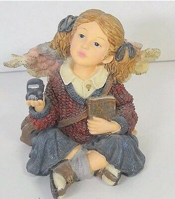 Boyds Bears Wee Folkstone Carrie B Safe Call Me When You Get There Figurine