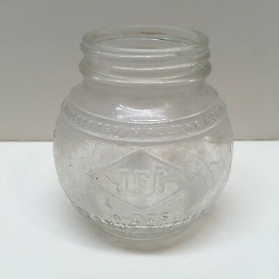 Vintage Round Glass Peanut Butter Jar Map JFG Coffee Co Knoxville Owens-Illinois