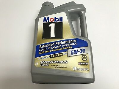 Mobil 1 5W-30 Extended Performance High Mileage Full Synthetic Motor Oil 5 Qt
