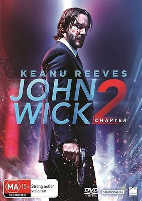 JOHN WICK - CHAPTER 2 DVD, NEW & SEALED, REGION 4, 2017 Keanu Reeves