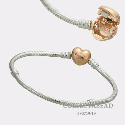 bc2832f42 Authentic Pandora Silver PANDORA Rose Heart Lock 8.3