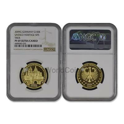 Germany 2009G Unesco Heritage Site Trier 100 Euro Gold NGC PF69 UC SKU# 6478