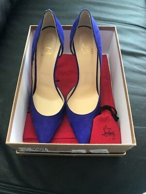 purchase cheap 1af87 ab687 NEW CHRISTIAN LOUBOUTIN Iriza 100 Suede Purple Pumps Heels 39.5 (9)