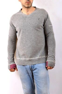 Men/'s crew neck sweater in wool with a Scottish pattern Harmont /& Blaine H16