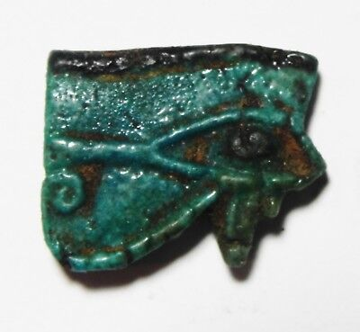 ZURQIEH -as5700- ANCIENT EGYPT, NICE EYE OF HORUS AMULET  . 600 - 300 B.C