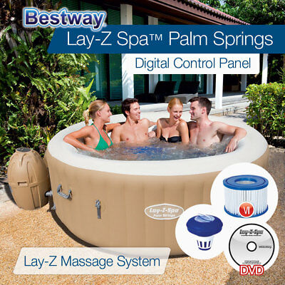 Bestway Lay Z Spa Inflatable Spas Portable Outdoor Spa Hot Tub 2-4 ppl 54129