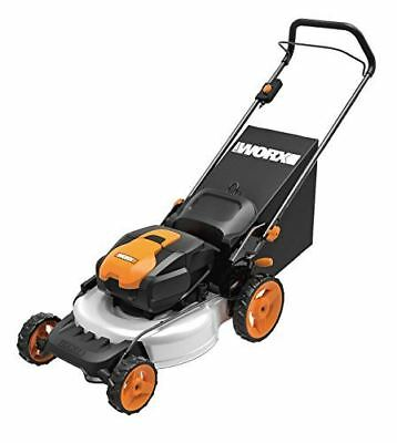 WORX WG772 56V Lithium-Ion 3-in-1 Cordless Mower with IntelliCut, 19-Inch, 2 Bat