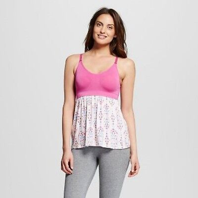 Gilligan & O Malley Nursing Sleep Cami Top Shirt Pink Women's Size Small
