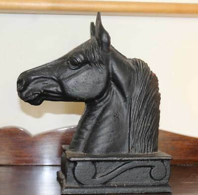 Vtg Horse Head Bookends Cast Iron 1954 Metal Crafters The Stallion