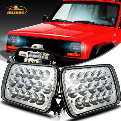 "DOT 2x New! LED 5"" X 7"" LED Headlights Replacement for Jeep Cherokee XJ Trucks"