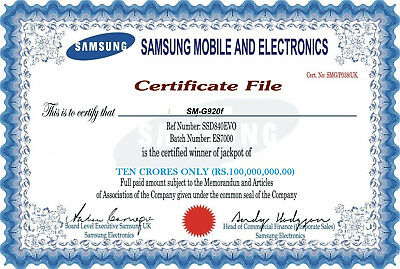 SAMSUNG CERT FILE CLEAN and NEW  100% working