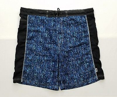 03901d11cb Vintage Mad Iguana Men's Blue/Black Floral Board Shorts Swim Trunks Size- Large L