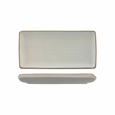 6x Share Platter 250x125mm Plate Zuma Mineral White Commercial Crockery Cafe