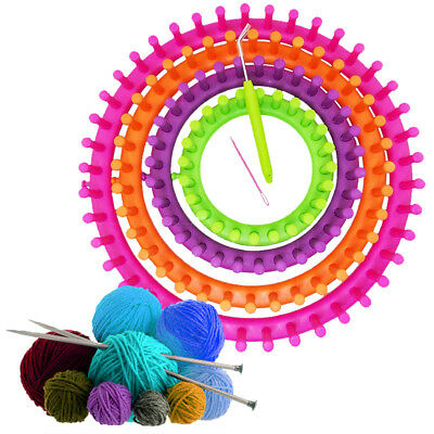 Knitter Looms Crocheting Knitting Ring Set Pompom Maker Craft Kit 14/19/24/29cm