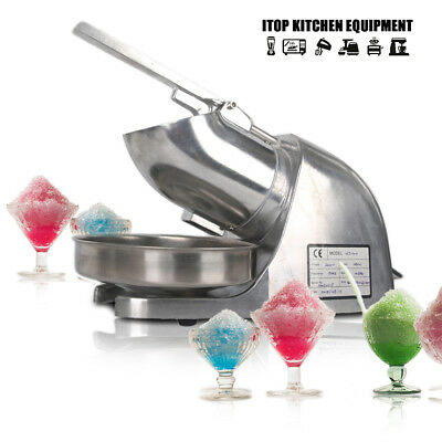 New Electric Ice Crusher Shaver Snow Cone 304 stainless blade CE aluminium alloy