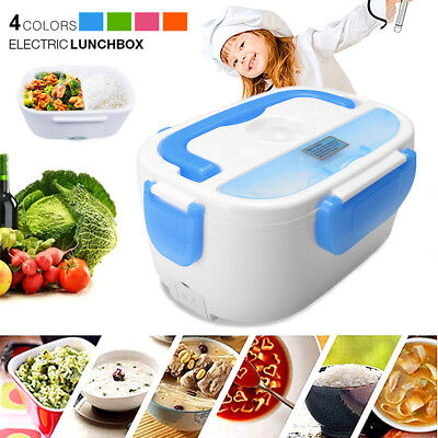 Portable Electric Heating Lunch Box Heated Bento Food Heater Warmer Rice Cooker
