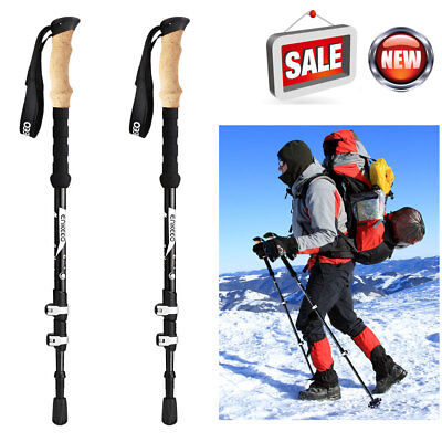 2018 Ultra-light Adjustable Camping Hiking Walk Trekking Stick Carbon Fiber Pole