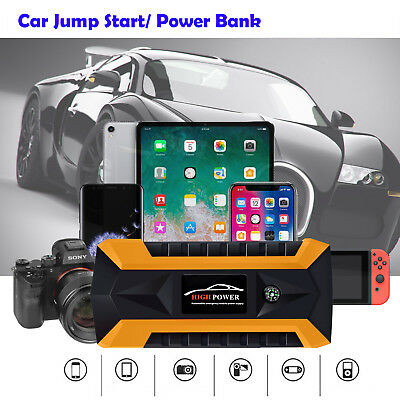 Multi-Function 12V USB Car Jump Starter Emergency Booster Power Bank Portable