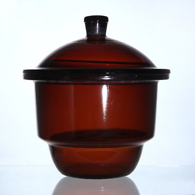 1pc 350mm Lab ordinary brown glass desiccator jar dryer