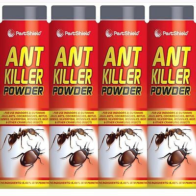4 x Ant Killer Powder Indoor and Outdoor Crawling Insect Killer 240g PestShield