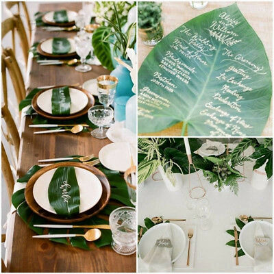 tropical green turtle leaves table decor for hawaiian luau party