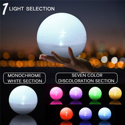 1X Solar Color Changing LED Floating Ball Light Swiming Pool Outdoor Garden Yard