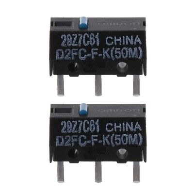 2x  OMRON D2FC-F-K (50m) Blue Dot Mouse Micro Switch