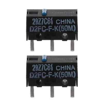 2x Original OMRON D2FC-F-K (50m) Blue Dot Mouse Micro Switch
