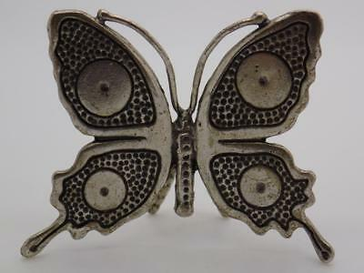Vintage Solid Silver Italian Made REAL LIFE SIZE Butterfly Figurine, Stamped